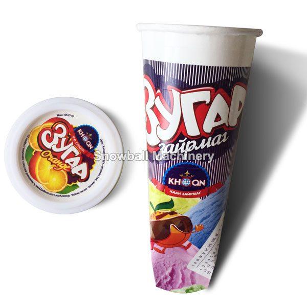 Tubo de cartón de diferente tamaño con tapa plástica para paleta de agua sabor
