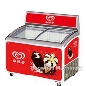 Congelador con Exhibuición de helado de entrega rápida Una mejor pubicidad con CR, UL,ETL