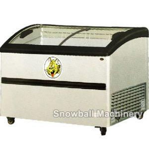 Comercial Mostrador del almacenaje de helado