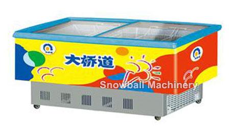 Mostradora con congelación