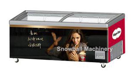 CE Aprobado Mostradora de helado