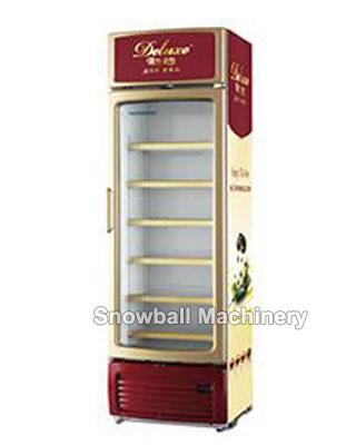 Comercial Vertical Congelador, Refrigerador vertical de la puerta de cristal