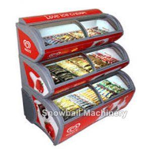 Tres Capas Congelador con Exhibición, Mostradora de productos alimentarios