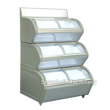 Mostrador de Helado Con Tres Capas, Congelador Comercial, Congelador Modulable