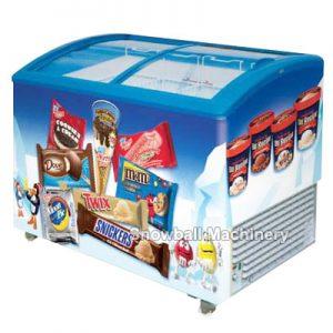 Comercial Refrigerator con Exhibición, Mostrador con Puerta de Vidrio