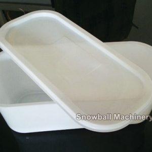 5L Rectangulo plástica caja para helado