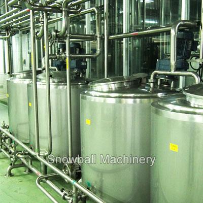 CIP Sistema en la producción de helado