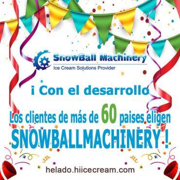 Los clientes de más de 60 paises eligen SNOWBALLMACHINERY
