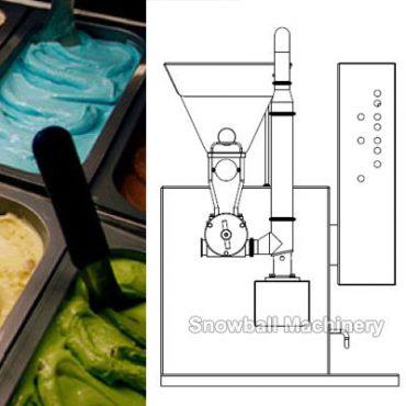 Principio de funcionamiento del alimentador de fruta para helado