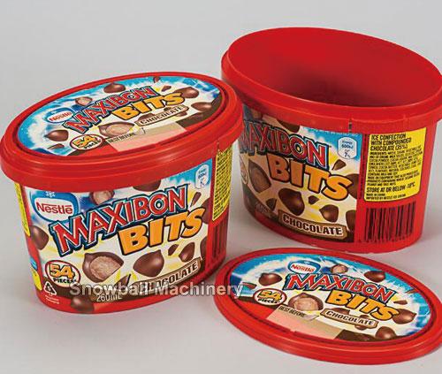 IML Envase con tapa, 260 vaso oval, vaso plastico de helado