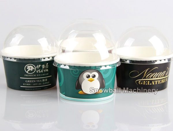 Envase de Cartón con tapa curvada para helado