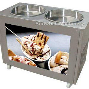 Máquina con Dos Panes para helado a la plancha, Máquina de Rollos Helados