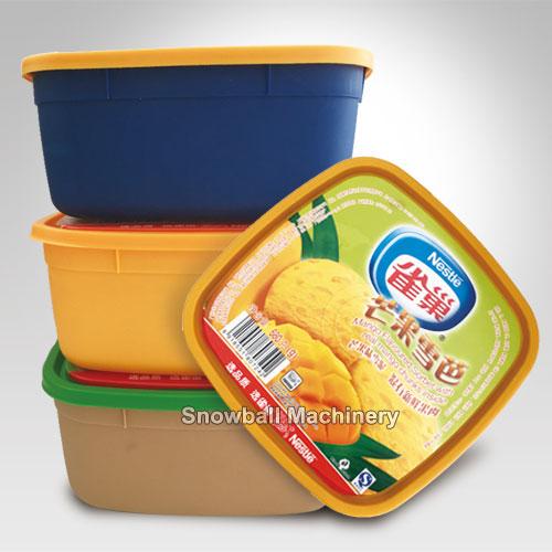 Caja Plastica de helado moldeo de inyección