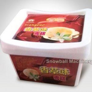 500ml 1L 2L Caja cuadrada de helado, Envase de helado